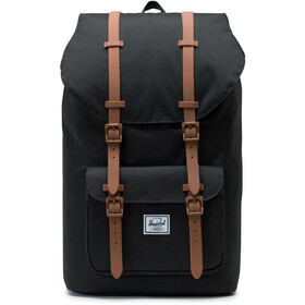 Herschel Little America Selkäreppu, black/saddle brown